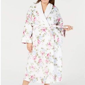 Charter Club Long Floral-Print Wrap Robe XL Floral